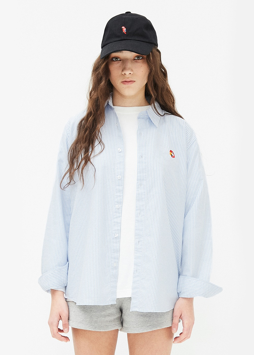 KANCO LOGO OXFORD SHIRT sky blue