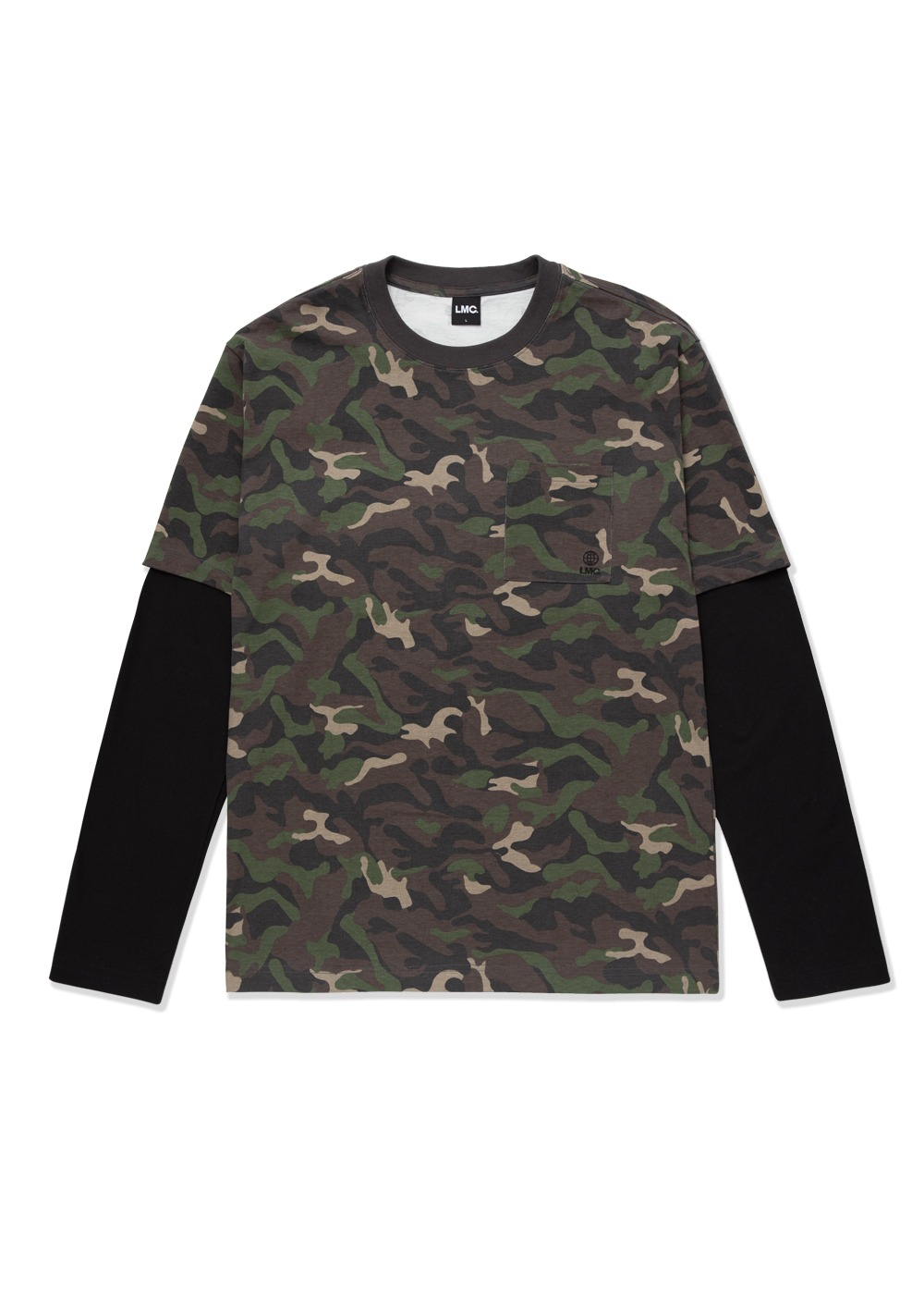 LMC WORKROOM LAYERED LONG SLV TEE camo