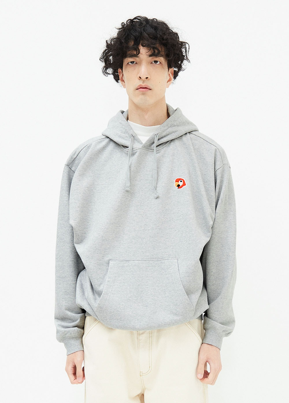 KANCO LOGO HOODIE heather gray