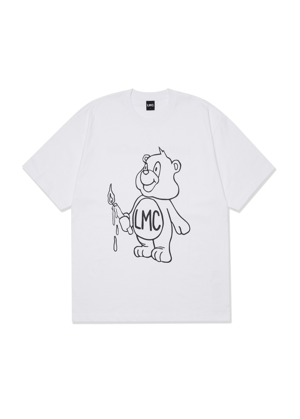 LMC CANDLE BEAR TEE white
