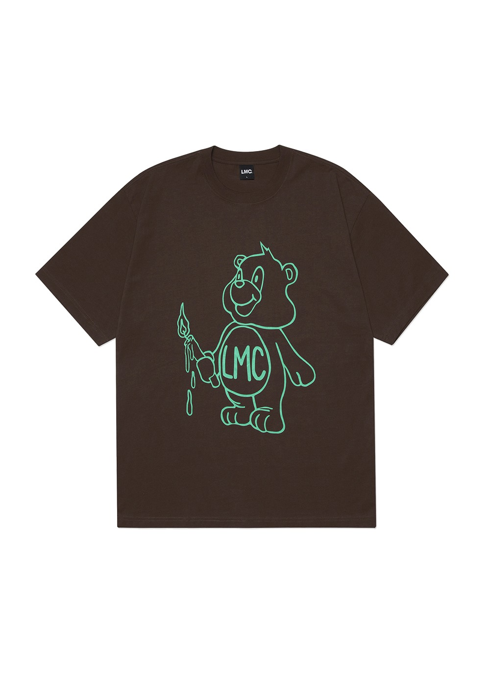 LMC CANDLE BEAR TEE brown
