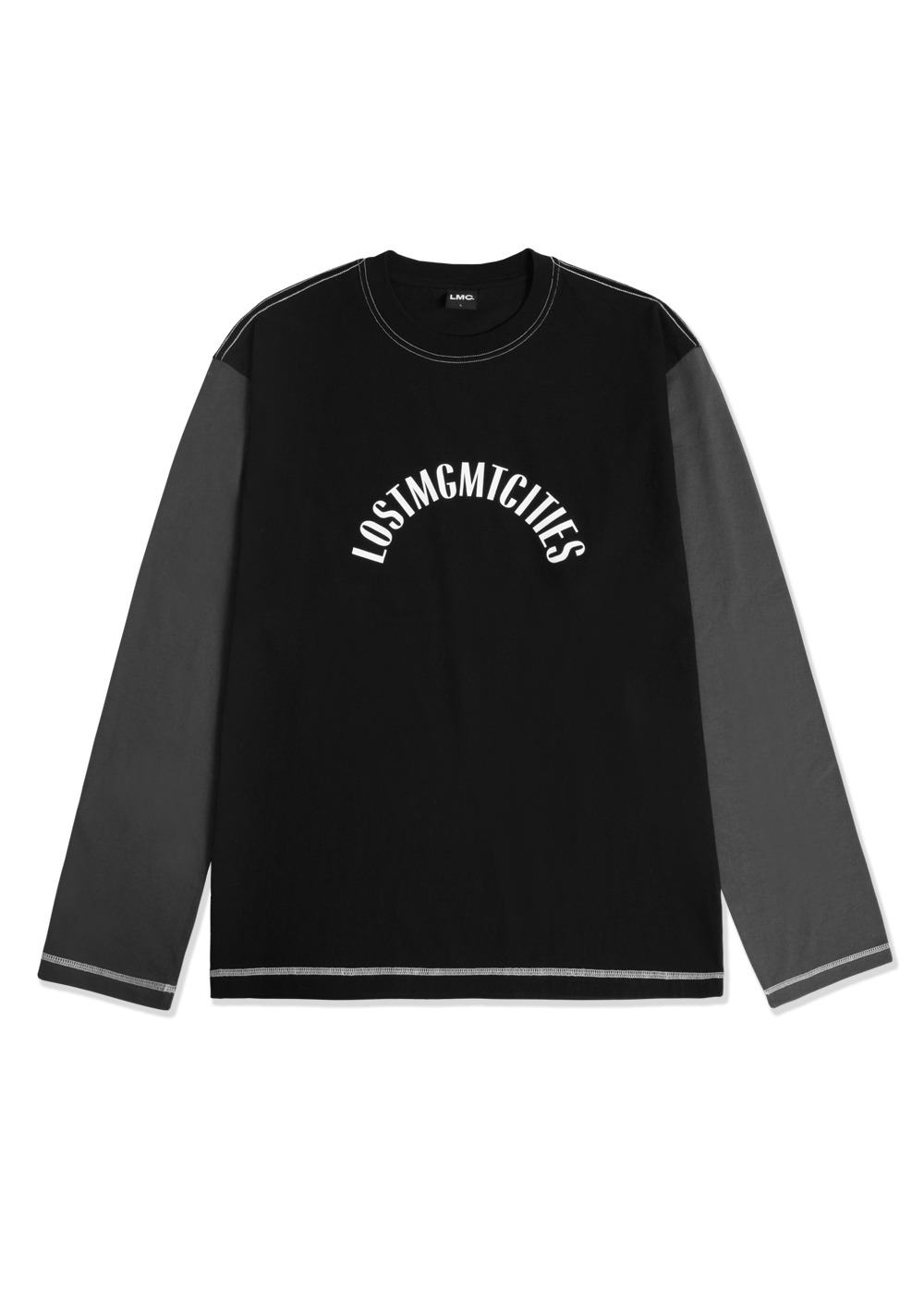 LMC TWO TONE ARCH LONG SLV TEE black