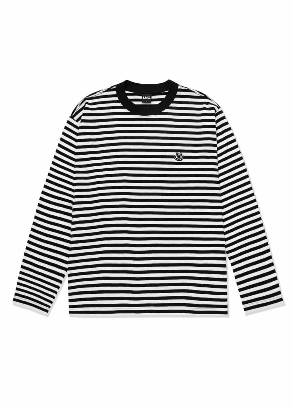 LMC CLUB STRIPE LONG SLV TEE black