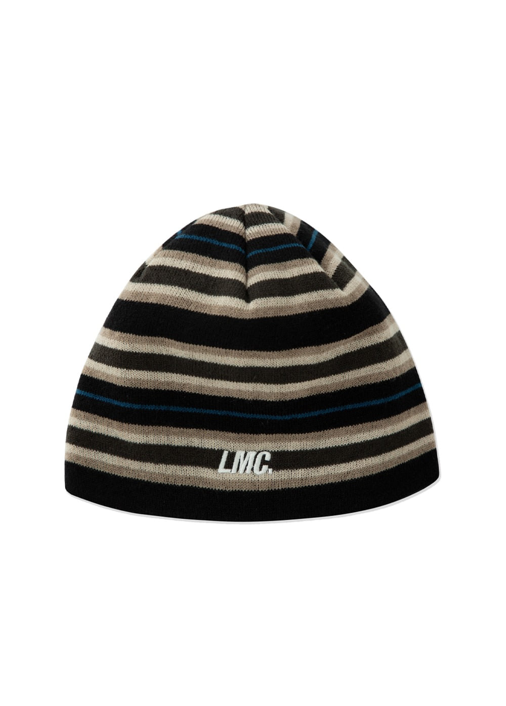 LMC STRIPE UNCUFFED BEANIE black