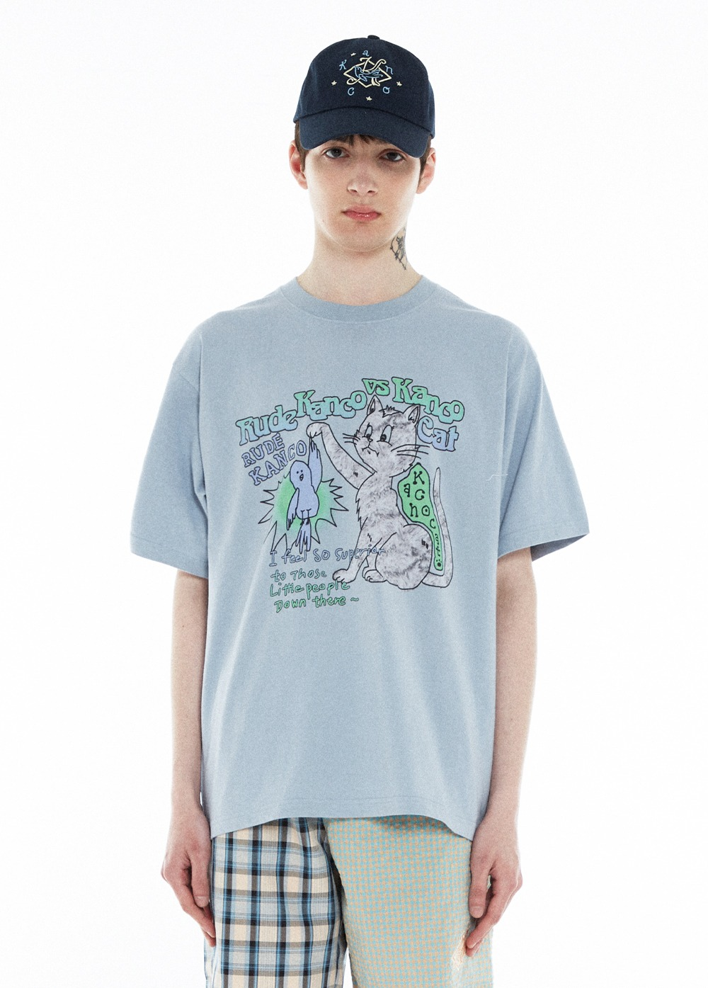 KANCO VS CAT TEE stone blue