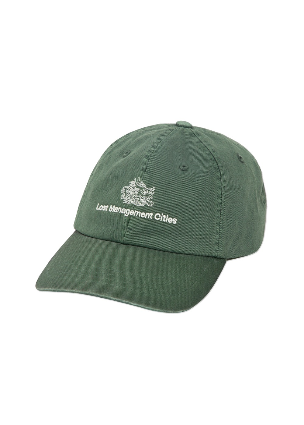 LMC OVERDYED DRAGON 6 PANEL CAP green