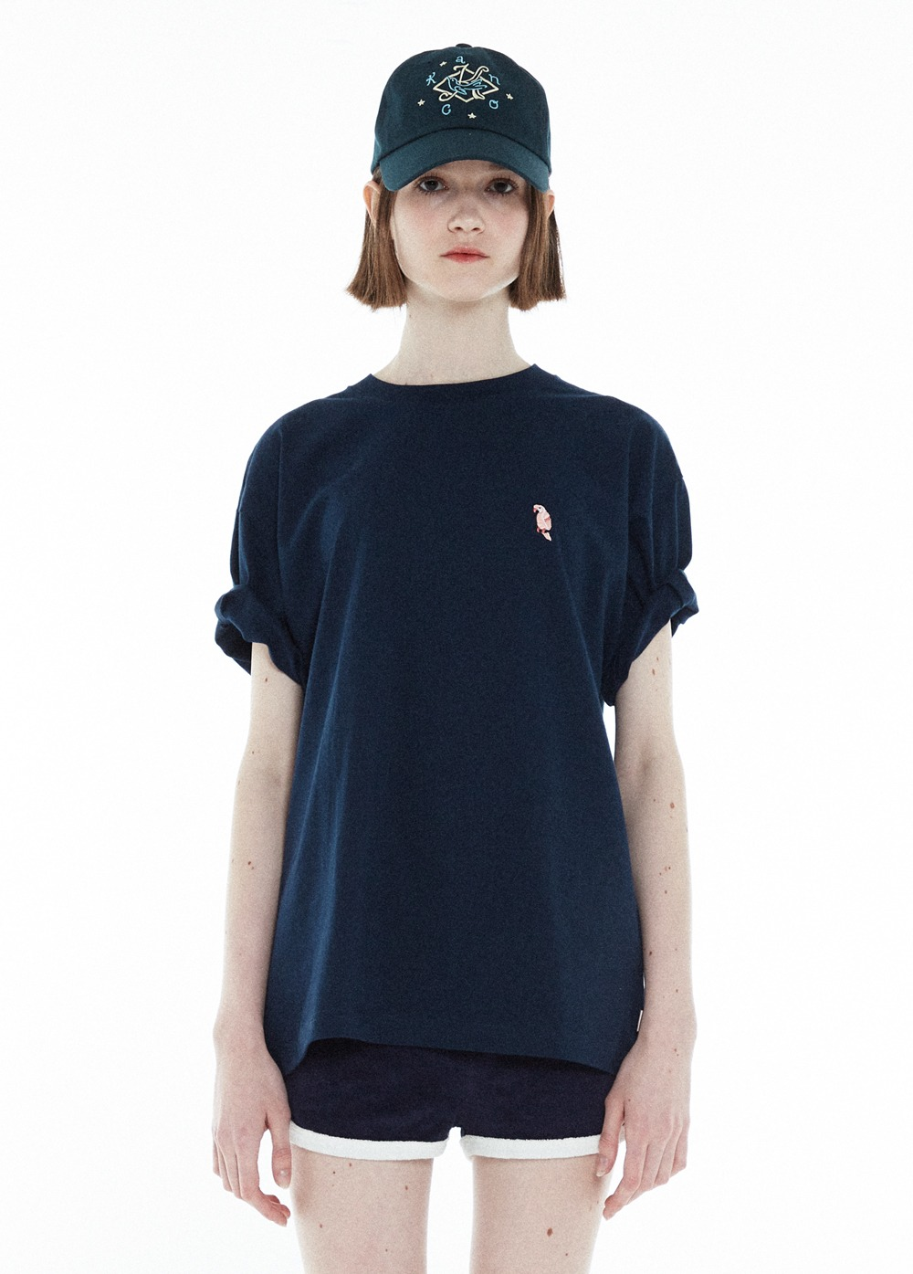 KANCO FULL LOGO TEE navy