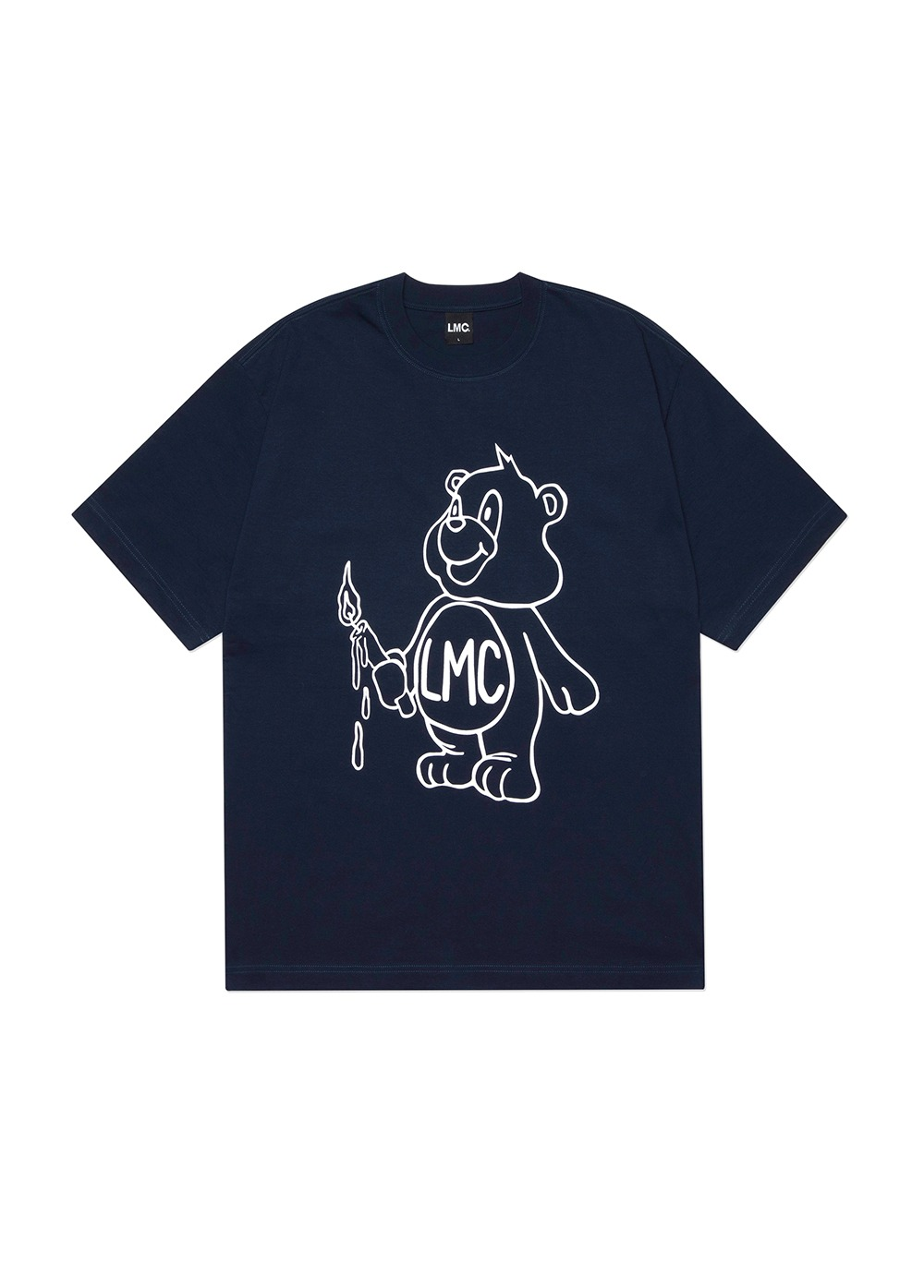 LMC CANDLE BEAR TEE navy