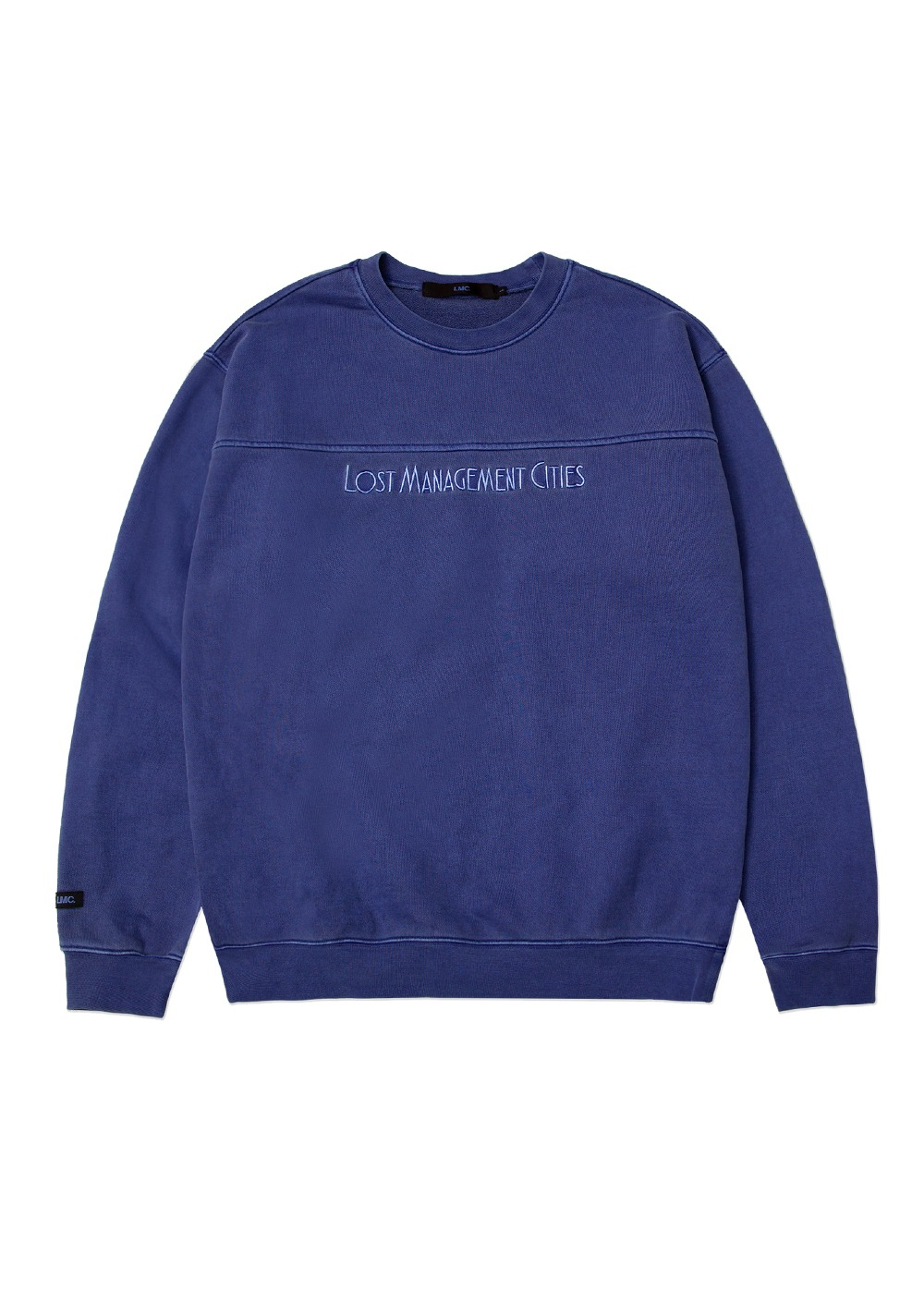 LMC OVERDYED JAZZ SWEATSHIRT purple blue