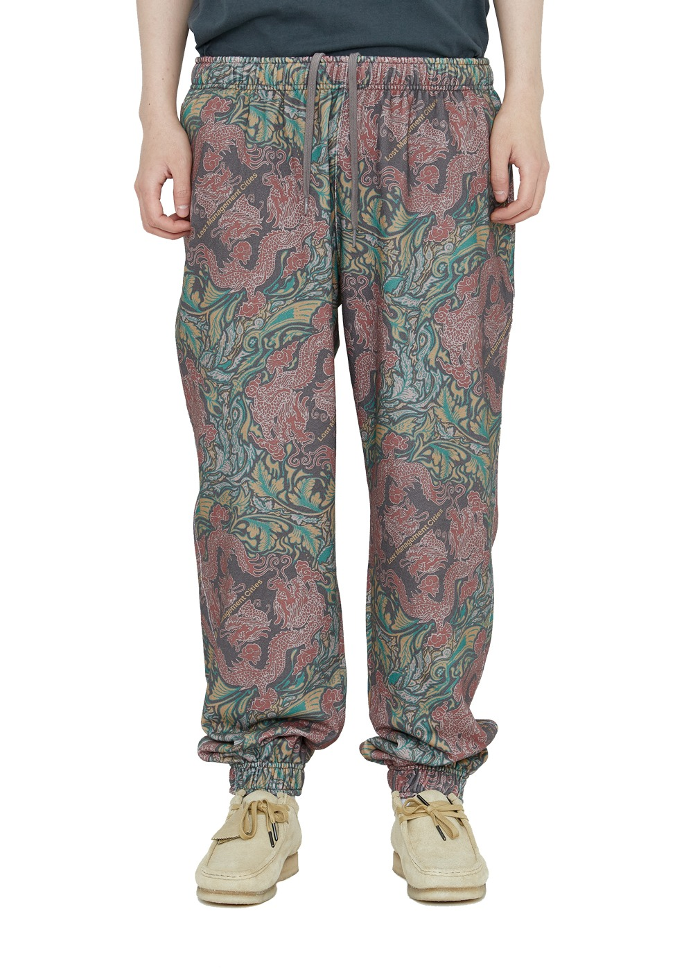 LMC DRAGON SWEATPANTS burgundy