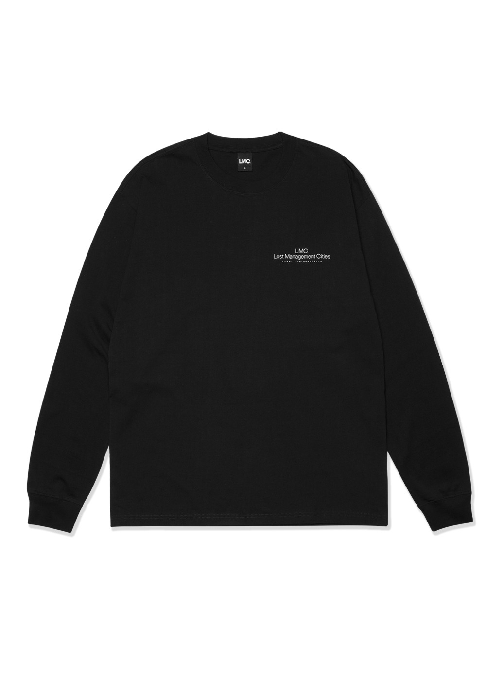 LMC THIN LOGO LONG SLV TEE black