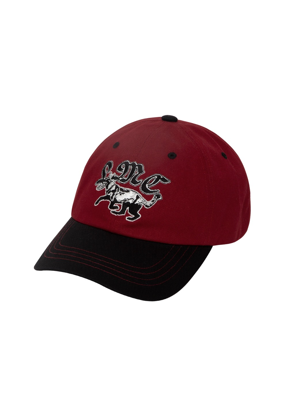 LMC TWO-TONE DOG 6 PANEL CAP burgundy