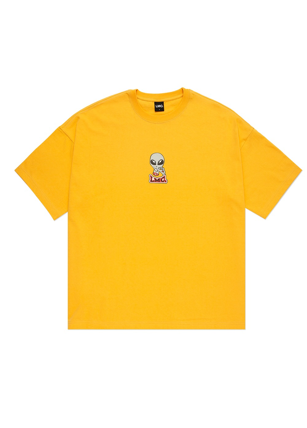 LMC SMOKING ALIEN OVERSIZED TEE yellow