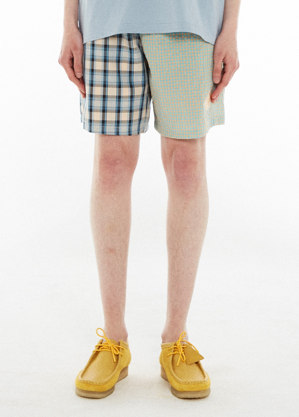 KANCO CHECK SHORTS blue/orange