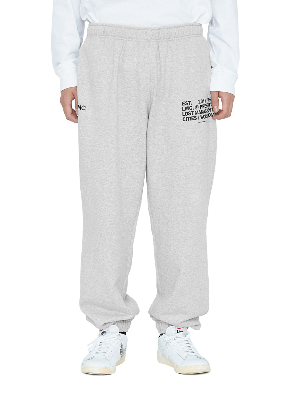 LMC WORKROOM SWEAT PANTS heather gray