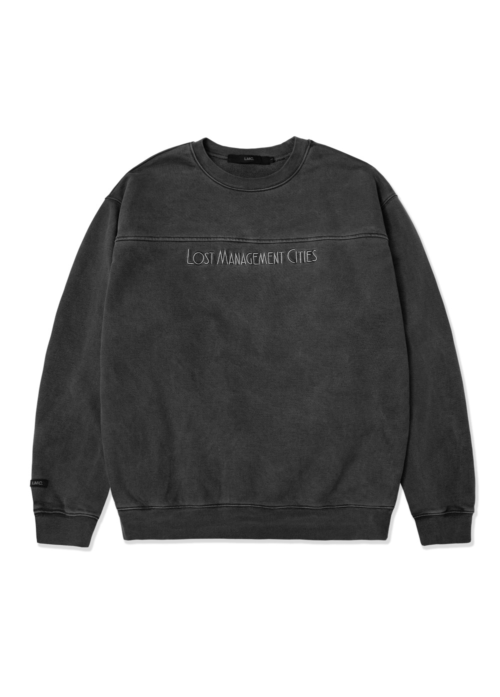 LMC OVERDYED JAZZ SWEATSHIRT charcoal