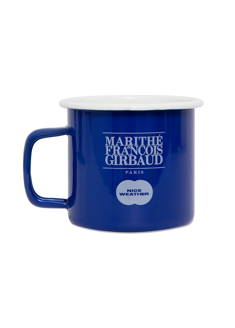 MARITHE X NICE WEATHER ENAMEL CUP royal blue