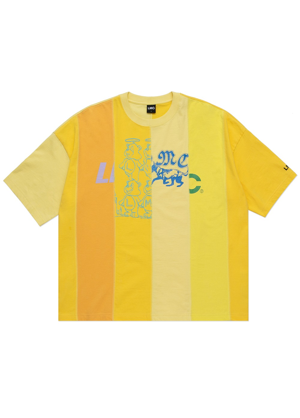 LMC REWORKED OVERSIZED TEE yellow