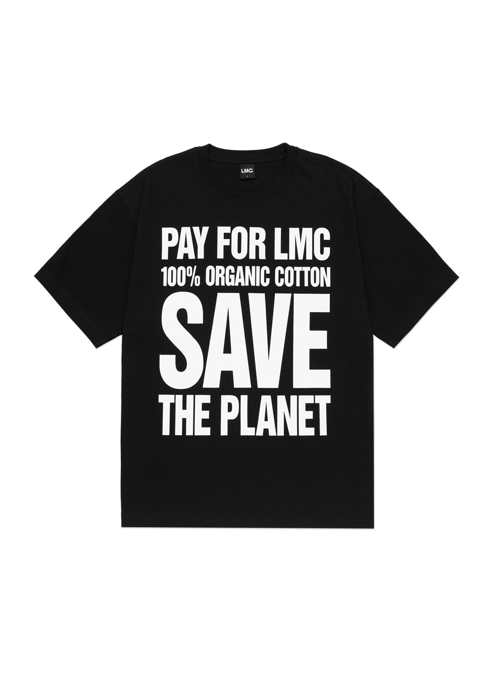 LMC SAVE THE PLANET ORGANIC TEE black