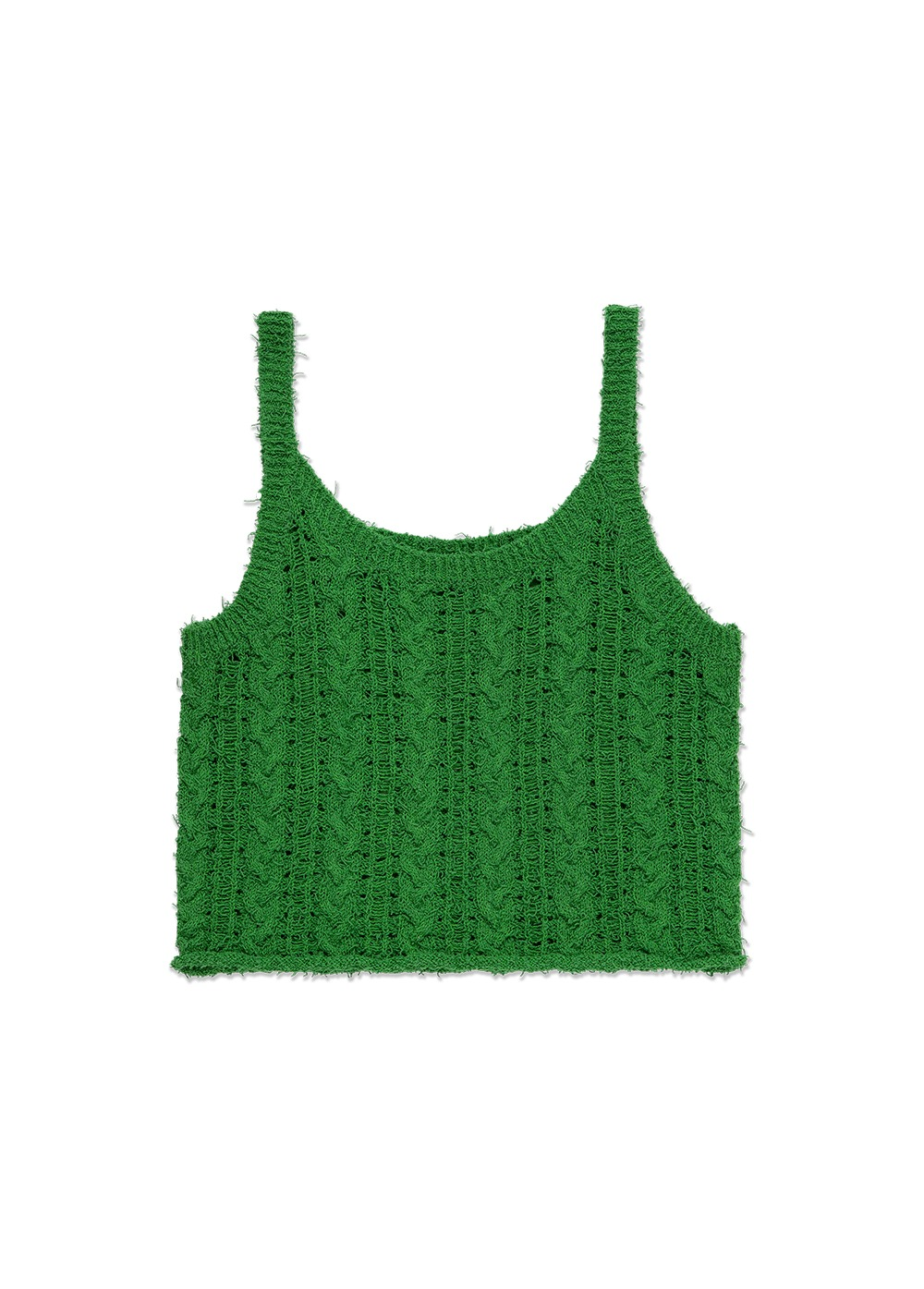 MARITHE X DIAGONAL FRANCOIS KNIT SLEEVELESS green