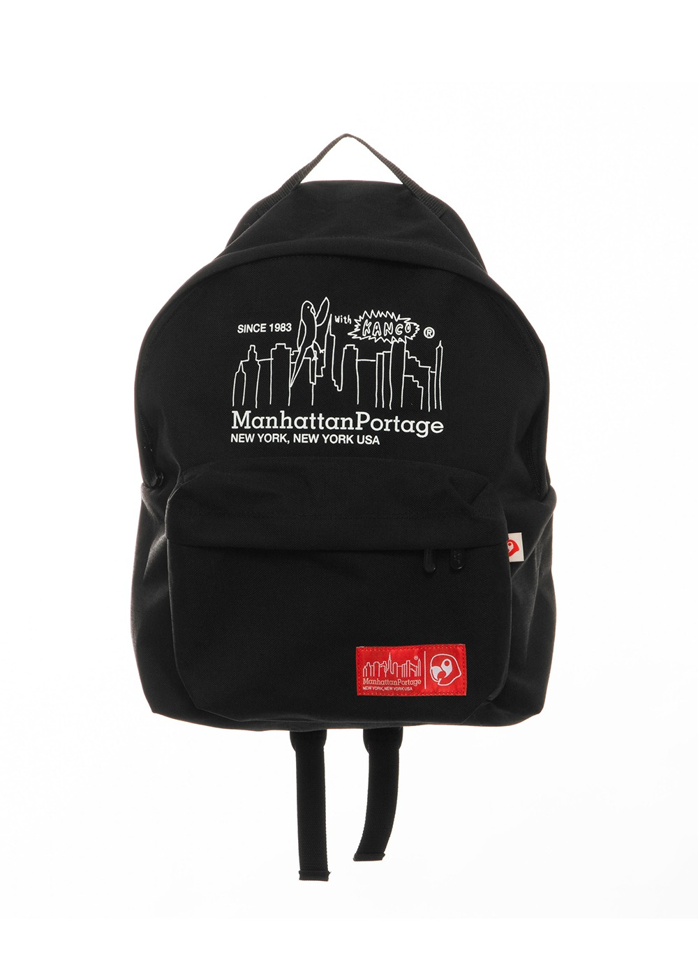 KANCO X MANHATTAN PORTAGE BIG APPLE BACKPACK black