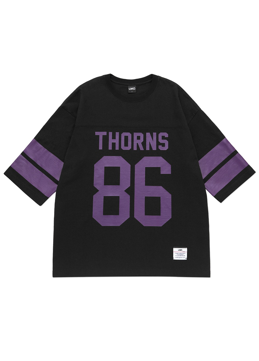 LMC THORNS 3/4 FOOTBALL TEE black