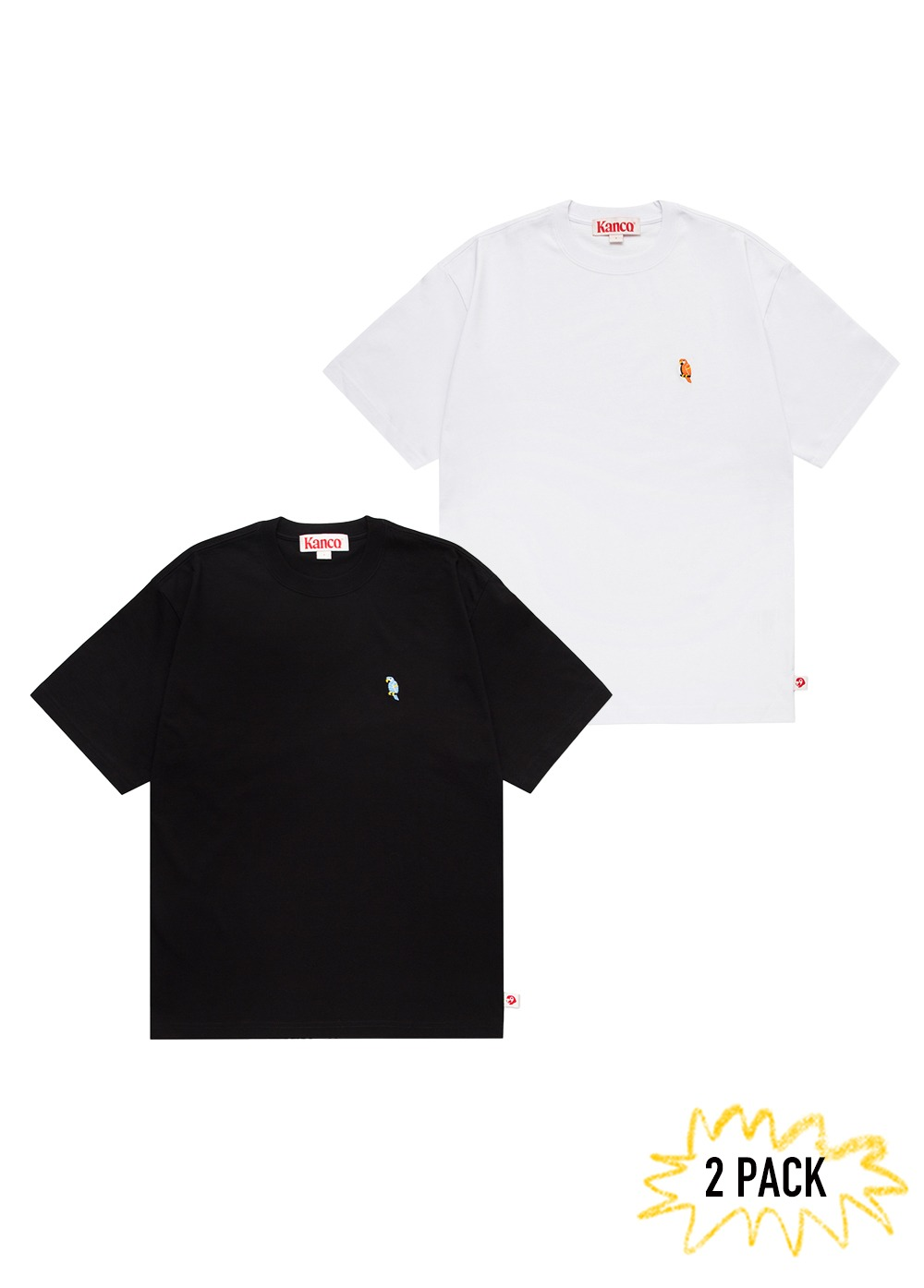 KANCO FULL LOGO TEE 2pack