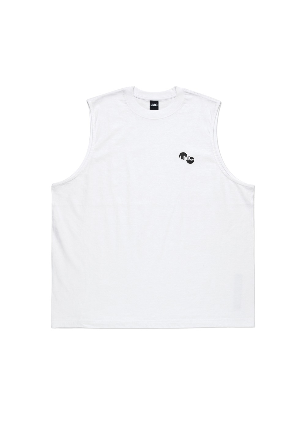 LMC CIRCLE SLEEVELESS white