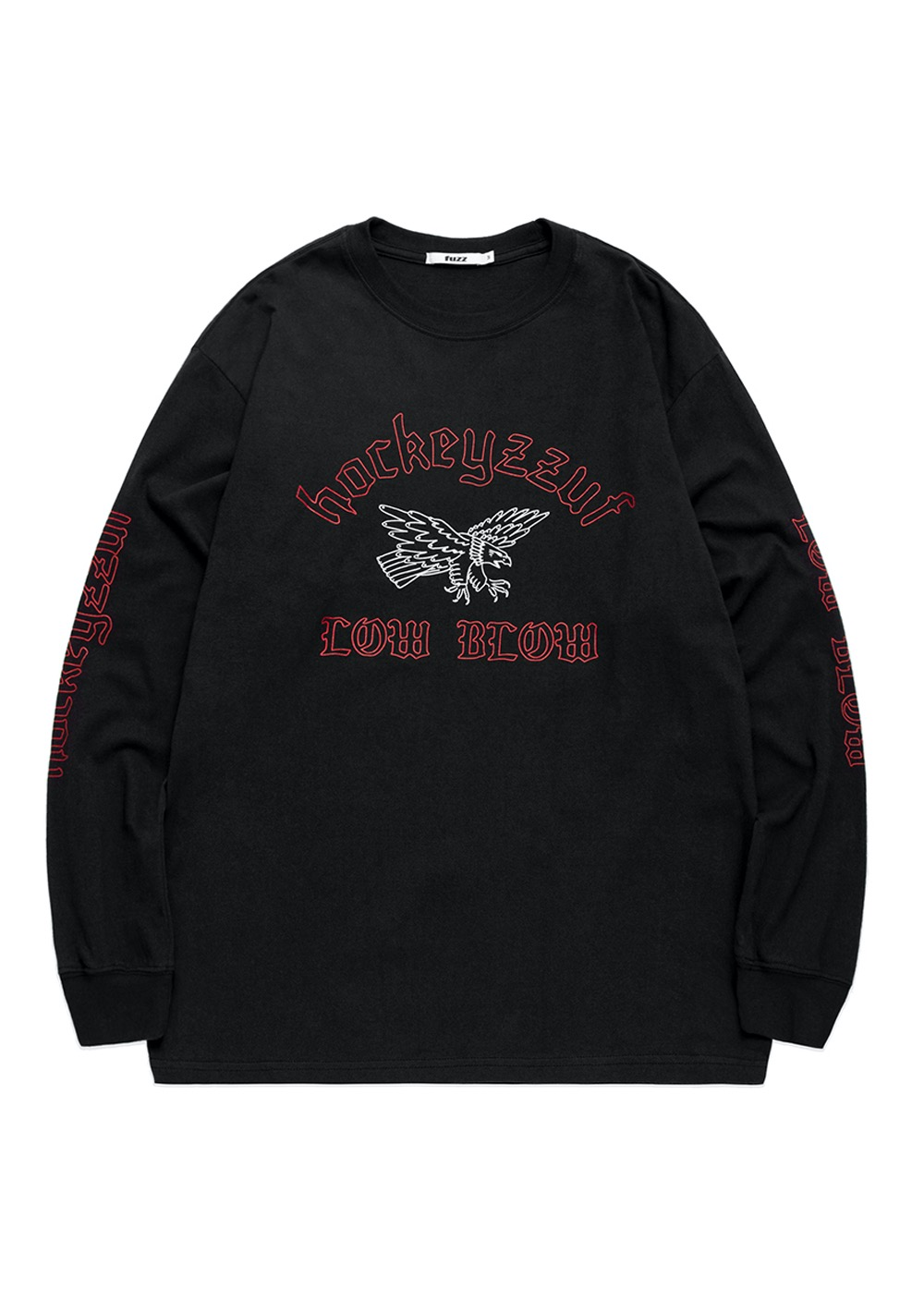 FUZZ X HOCKEY STICK CHOP L/S TEE dark charcoal