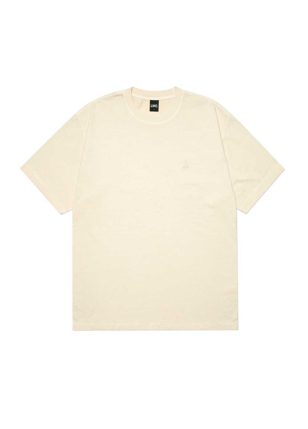 LMC OVERDYED GLOBE TEE cream