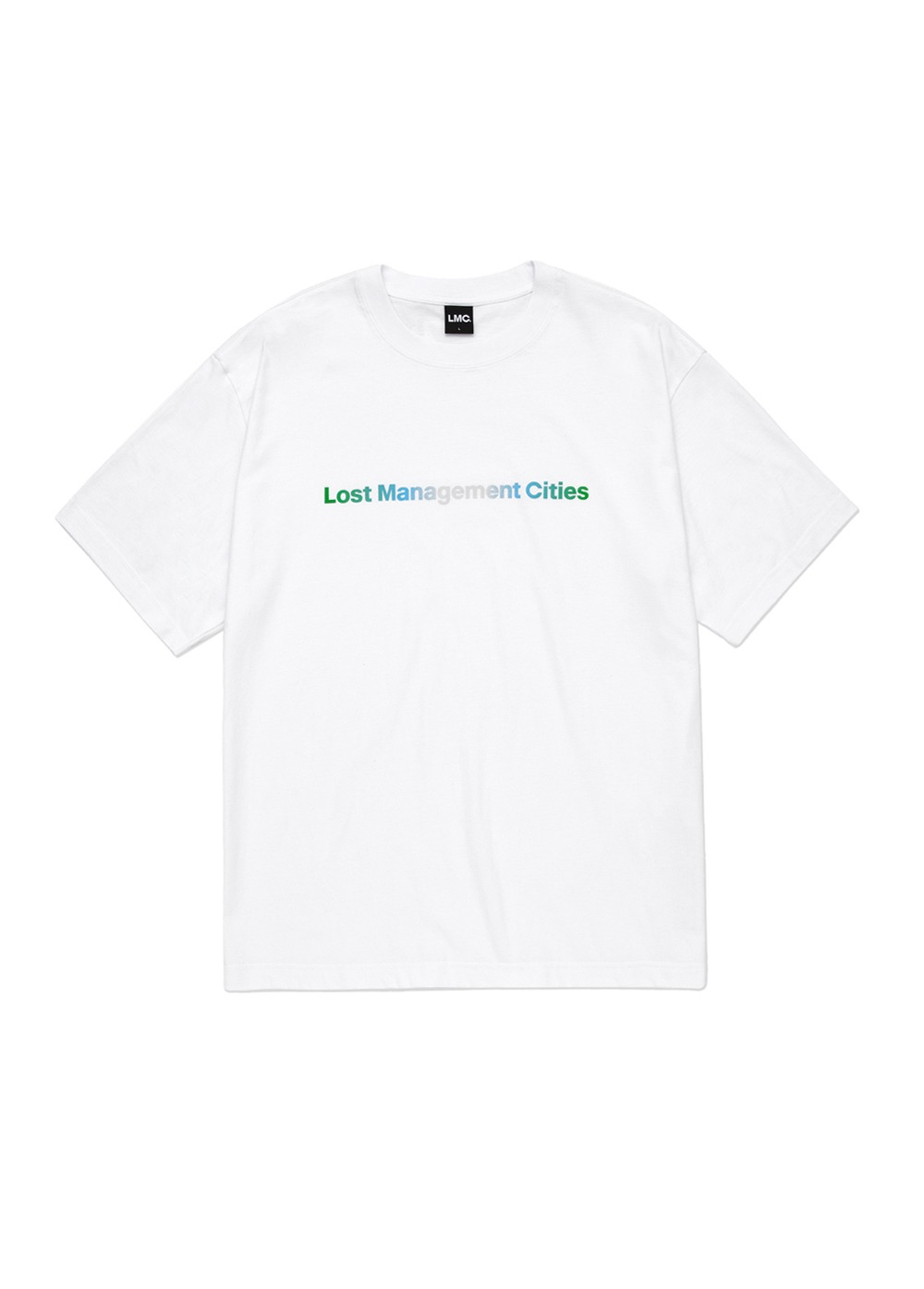 LMC NATURE GRADIENT FN ORGANIC TEE white