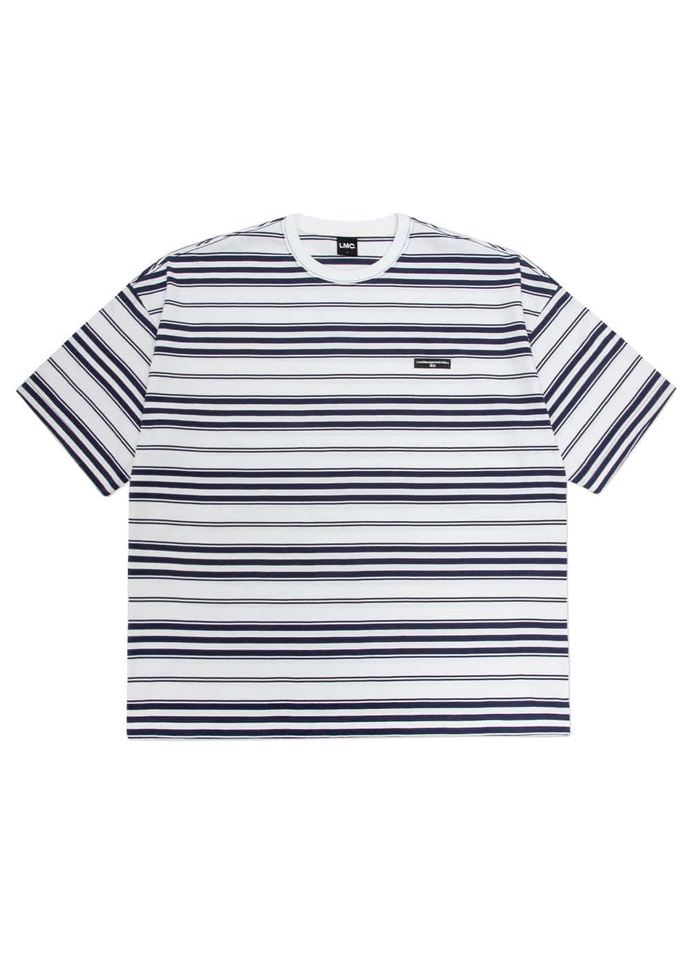 LMC FN MULTI STRIPE OVERSIZED TEE white