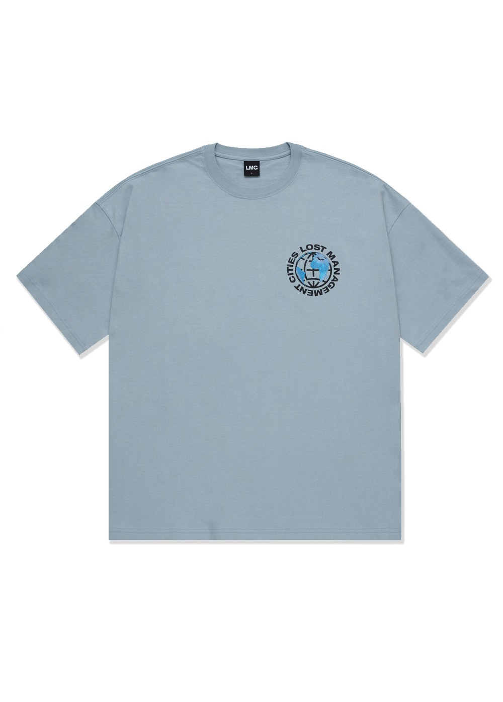 LMC EARTH WHEEL OVERSIZED TEE gray