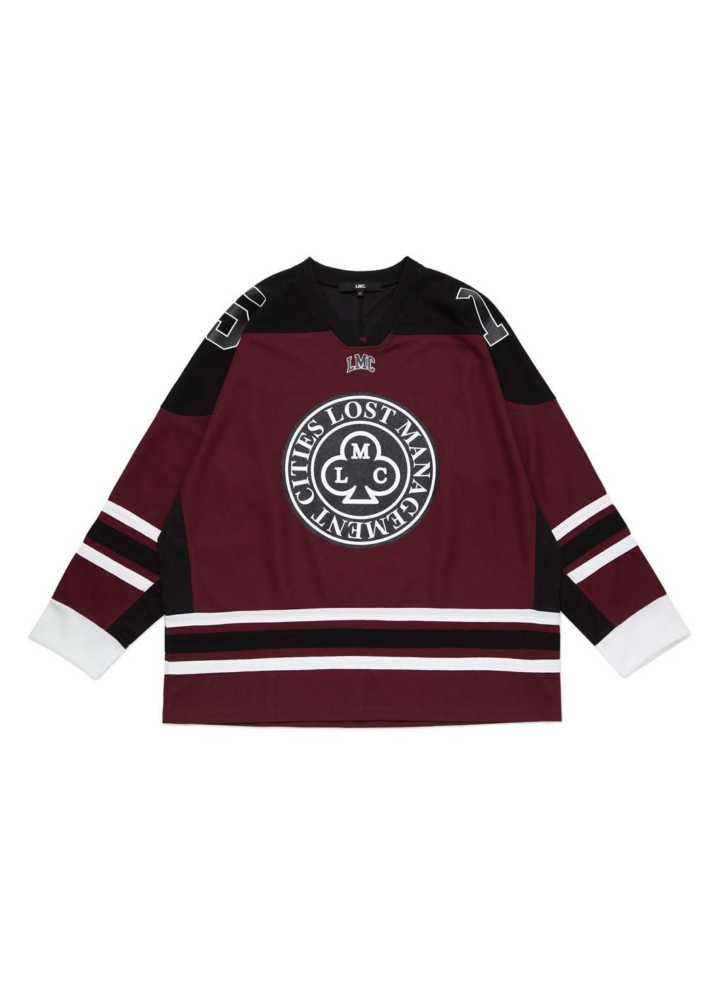 LMC CLUB HOCKEY JERSEY LONG SLV TEE burgundy