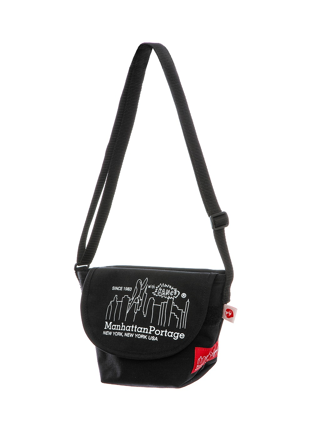 KANCO X MANHATTAN PORTAGE MINI MESSENGER BAG black