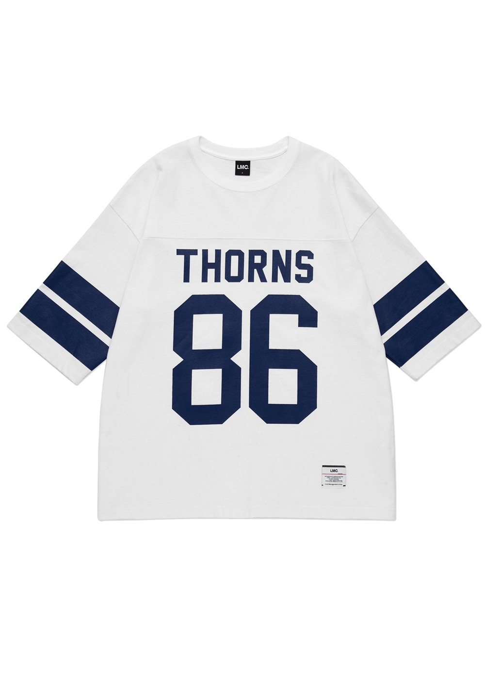 LMC THORNS 3/4 FOOTBALL TEE white