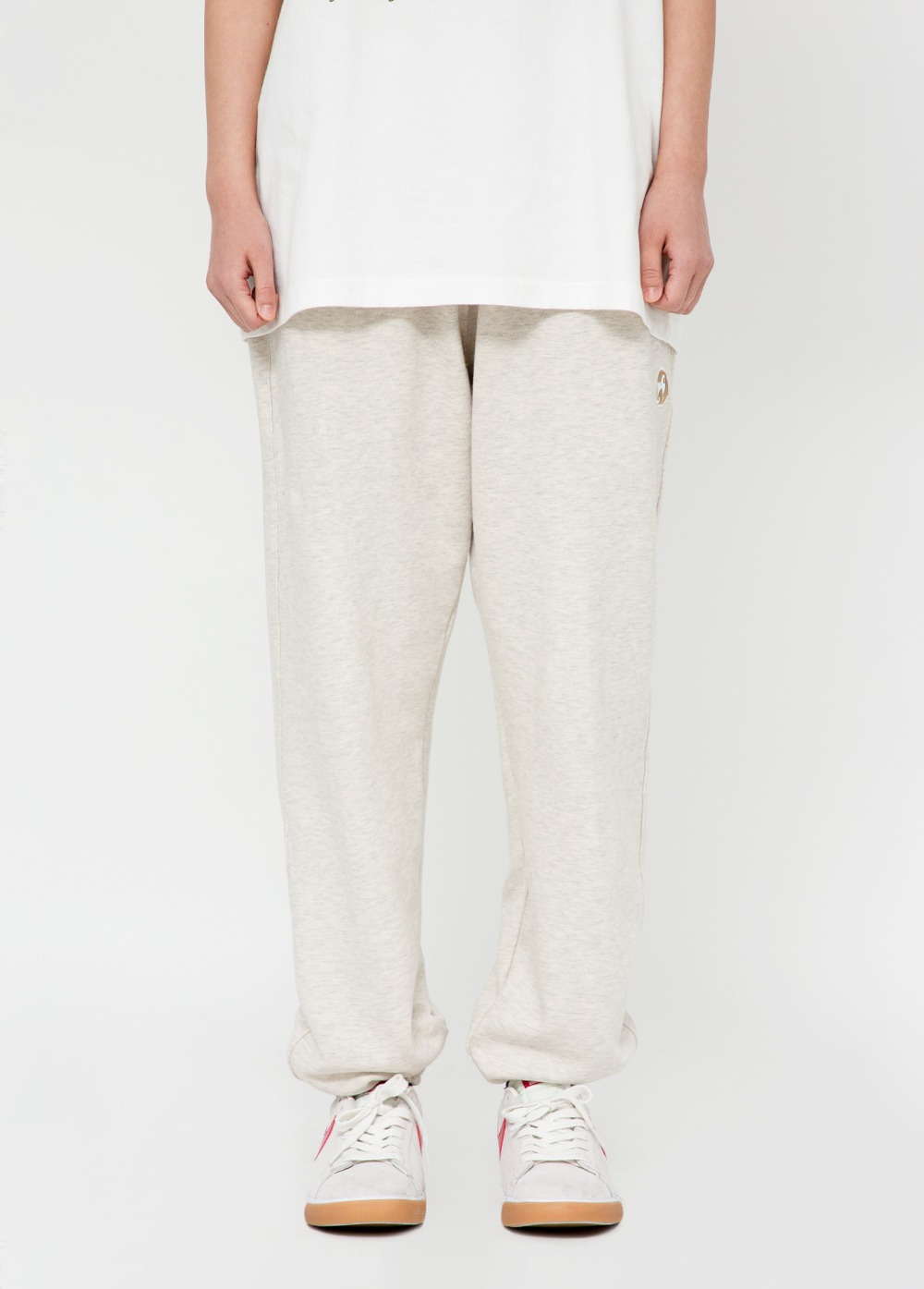 KANCO LOGO SWEATPANTS oatmeal