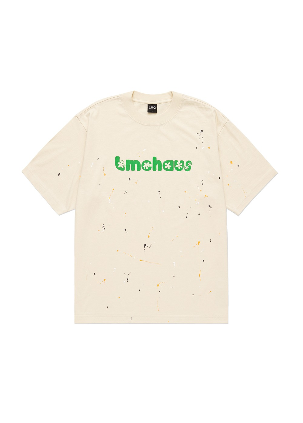 LMC PAINT SPLATTER TEE cream