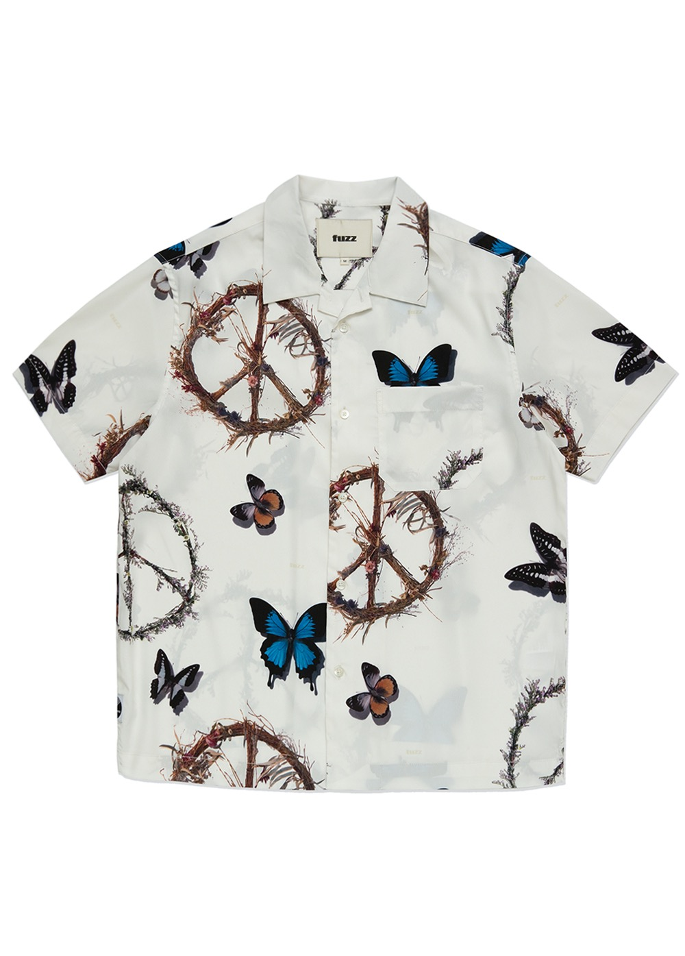 FUZZ PEACE WORLD SHIRT cream